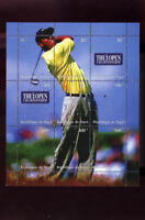Tiger Woods Republique Du Niger Golf Uncut Postage Stamp Sheet Open Championship