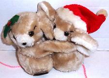Holiday Christmas George Good 1978 HUGGING Boy & Girl Mice Vintage