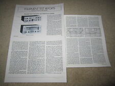 Kenwood Review, 700m Amplifier,700c Preamp, 3 pgs, 1975