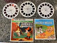 Walt Disney Mickey Mouse 3 Reel Viewmaster Story Set