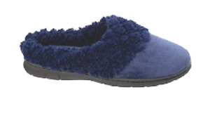 Slippers womens new size 5/6M new Dearfoams navy velour clog man made materials