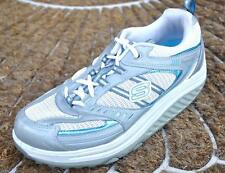 Skechers 11814  Shape Ups White Silver Blue Toning Sneakers 8.5 / 38.5