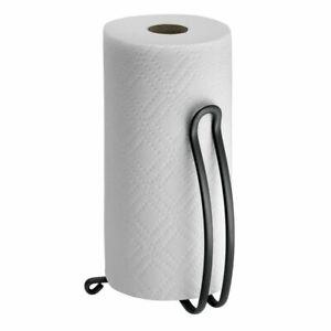 mDesign Modern Metal Kitchen Paper Towel Holder Stand/Dispenser - Matte Black