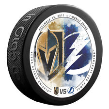 VEGAS GOLDEN KNIGHTS vs TAMPA BAY LIGHTNING NHL Matchup Hockey Puck 12/19/17