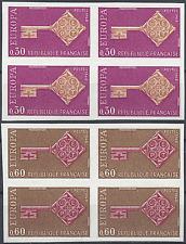 FRANCIA EUROPA Nº1556/1557 SELLO NO DENTADO IMPERF 1968 NEUF MNH