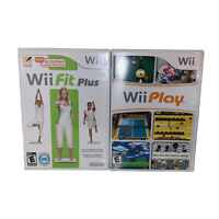 Lot 2 Nintendo Wii Games Wii Fit Plus & Wii Play Complete CIB BC Wii U