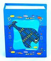 """Photo Album -Whale design (50 Pages for 100 Photos) fits 3x5"""" Photographs"""