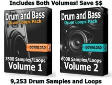 DnB Ultra Mega Drums Bundle WAV Samples Loops Ableton Cubase Drum and Bass Drums