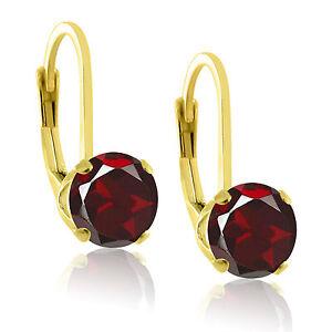 Gold over Sterling Silver .925 Genuine Natural Gemstone Lever Back Earrings