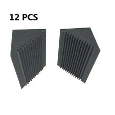 12PCS Bass Trap Charcoal Sound Proof Foam Size in 12cm x 12cm x 24cm For Corner