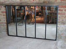 Glace / miroir riveté style atelier à 5 bandes en fer forgé