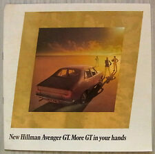 HILLMAN AVENGER GT LF Car Sales Brochure 1970-71 #C2615/H