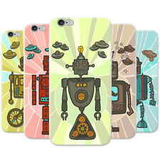 Azzumo Retro Hipster Robots Soft Ultra Thin Case Cover For the Apple iPhone