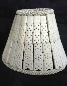 BONE / HORN SMALL HAND MADE LAMP SHADE, ETHNIC BEADS