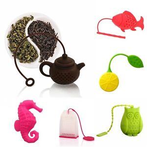 SPIRIUS Silicone Tea infuser loose Tea Leaf Leaves Herbal Strainer many designs