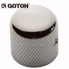 NEW (1) Gotoh VK1-18 - Control Knob - DOME - Bass, Guitar - METAL - COSMO BLACK