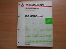 Werkstatthandbuch Verdrahtungsanleitung Schaltpläne Mitsubishi Pajero (2003)