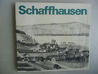 Schaffhausen gezeichnet von Jacques Schedler 1973 mit sep. Zeichnung