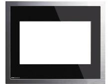 Gira 208005 Abdeckrahmen Designrahmen Control 9 KNX EIB Glas schwarz Alu Rahmen