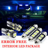 9x Bulbs For VW SCIROCCO MK3 2008-16 CANBUS INTERIOR PACKAGE BLUE LED LIGHT KIT