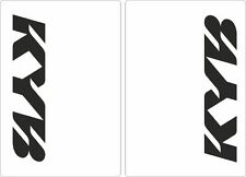 KYB Motocross Upper Fork Decal Stickers Graphic Set Adhesive White