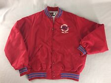 Vintage Pla-Jac By Dunbrooke Alta Iowa Line Service Red Quilted Lining Size L