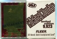 1998 FLEER BLEACHERS 23KT GOLD MICHAEL JORDAN #55 RUBY RED SSP SP /9923