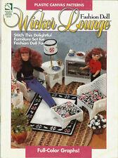 Plastic Canvas Fashion Doll Wicker Furniture Barbie Pattern Book