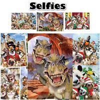 Selfies Single Panel Duvet Covers Reversible Bedding Animal Selfies Novelty Gift
