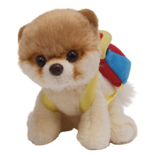 GUND Itty Bitty Boo with Backpack Holiday Plush Toy Teddy Dog Pom
