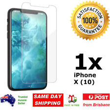 1x iPhone X 10 Glass Screen Protector 9H Premium Tempered Shatter Proof Apple