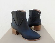 UGG 2018 ANNIE BLACK WESTERN STYLE LEATHER HIGH HEEL BOOTS, US 8/ EUR 39 ~NEW