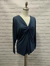 Marks & Spencer blue long sleeved top size 18