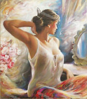 "ZWPT368 modern ""beauty girl"" 100% hand-painted wall art oil painting on canvas"