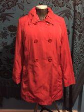 MARKS & SPENCER PER UNA Idrorepellente Cappotto rosso taglia 12 M&S RAIN JACKET
