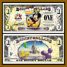 "Disney 1 Dollar, 2009 Series ""T"" Mickey Celebrate Uncirculated"