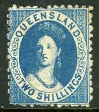 Australia 1881 Queensland 2' Deep Blue Wmk 68 Invert Perf 12 Scott #22a G266