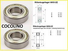 Radlager Lager Rillenkugellager Kart Kugellager 6003 / 6004 ZZ bearing roulement