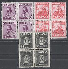 ESPAÑA 1948 EDIFIL 1033/1034** Y 1035  EN BLOQUES DE 4