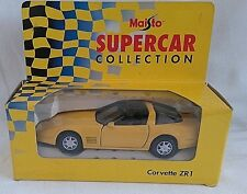 MAISTO SUPERCAR COLLECTION CHEVROLET CORVETTE ZR1 CAR YELLOW DIECAST 1/38 BOXED