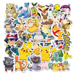 Pokemon Aufkleber Stickerbomb 50 Stk. Glurak Pikachu Sticker Trainer Enton