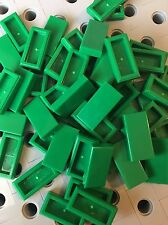 Lego Tiles 1x2 Green Flat Smooth Finishing Tile Buildings Grass Roof Floor 50pcs