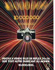 PUBLICITE ADVERTISING 114  1981  PENTAX appareil photo 24x36  MILLION