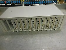 Allied Telesyn AT-MCR12 Chassis with 8 x AT-MC13 ethernet media converters