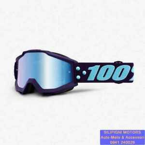 Maschera 100% ACCURI MANEUVER 461170 Occhiali Cross/Enduro Lente Blu a Specchio