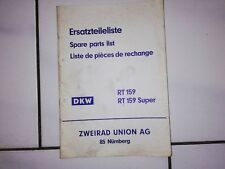 DKW RT 159 Super  Ersatzteileliste