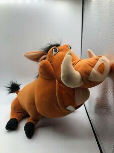 The Lion King Pumbaa Warthog Disney 2003 Hasbro Plush Kids Stuffed Toy Animal