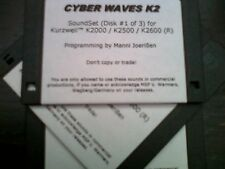 KURZWEIL ~ CYBER WAVES  ~ Native KRZ ~ AWESOME VAST PROGRAMS  ~ 3 DISK SET!!!