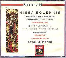Otto KLEMPERER BEETHOVEN Missa Solemnis Choral Fantasy BARENBOIM EMI 2CD Talvela