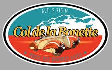 COL DE LA BONETTE ROUTE DES GRANDES ALPES 12cm AUTOCOLLANT STICKER CB031